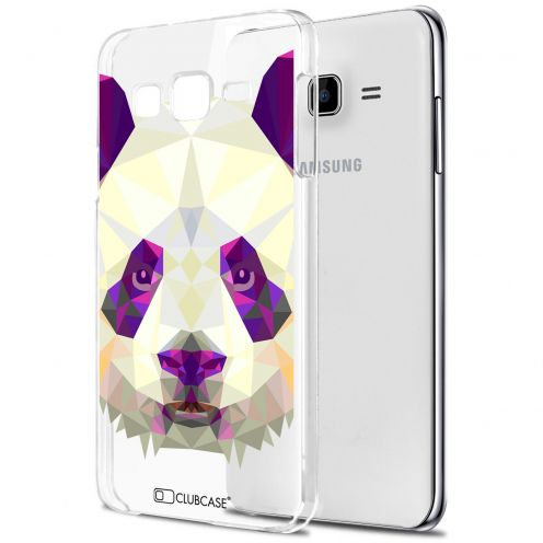 Extra Slim Crystal Galaxy J7 (J700) Case Polygon Animals Panda