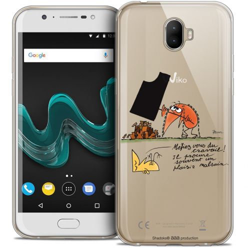 """Extra Slim Crystal Gel Wiko Wim (5.5"""") Case Les Shadoks® Le Travail"""