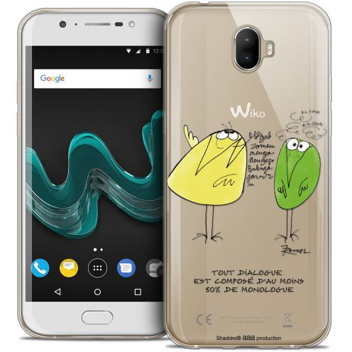 """Extra Slim Crystal Gel Wiko Wim (5.5"""") Case Les Shadoks® Le Dialogue"""