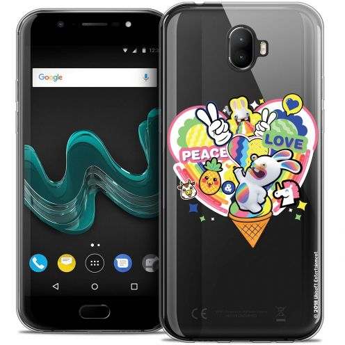 """Crystal Gel Wiko Wim (5.5"""") Case Lapins Crétins™ Peace And Love"""