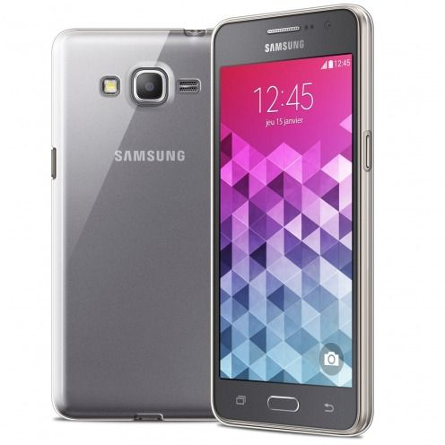 Ultra thin 0.5 mm Crystal Clear View Flexible Case for Samsung Galaxy Grand Prime