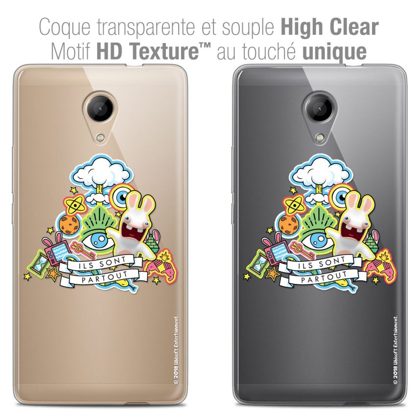 Crystal Gel Wiko Robby Case Lapins Crétins™ Ils Sont Tous Là !