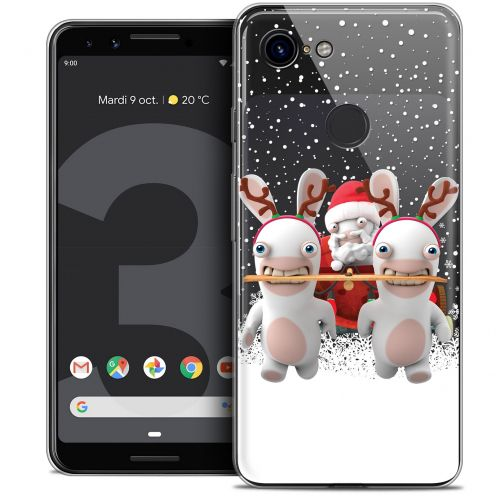 "Crystal Gel Google Pixel 3 (5.5"") Case Lapins Crétins™ Lapin Traineau"