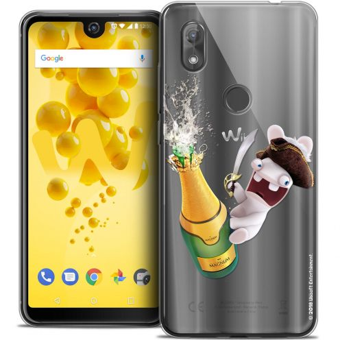 "Crystal Gel Wiko View 2 (6.0"") Case Lapins Crétins™ Champagne !"