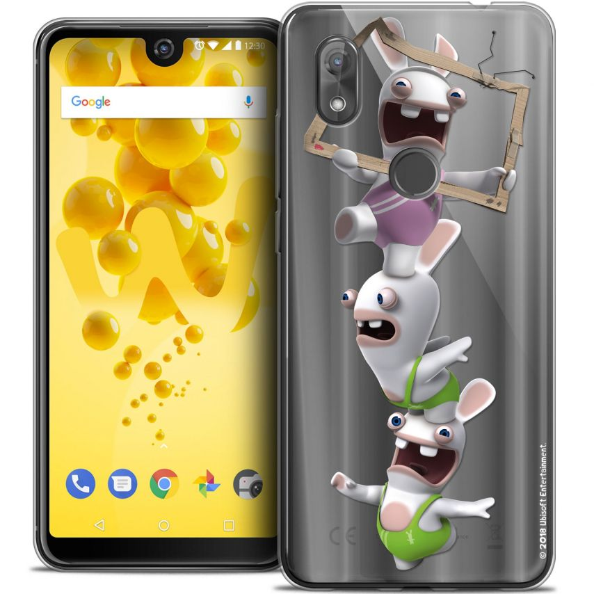 """Crystal Gel Wiko View 2 (6.0"""") Case Lapins Crétins™ TV Sport"""