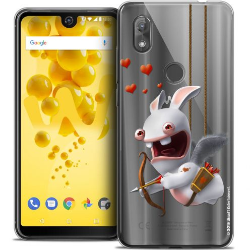 """Crystal Gel Wiko View 2 (6.0"""") Case Lapins Crétins™ Flying Cupidon"""