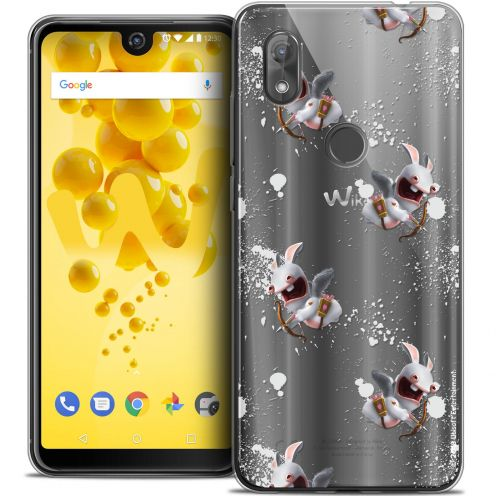 """Crystal Gel Wiko View 2 (6.0"""") Case Lapins Crétins™ Cupidon Pattern"""