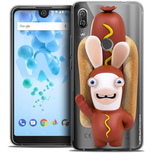 "Crystal Gel Wiko View 2 PRO (6.0"") Case Lapins Crétins™ Hot Dog Crétin"