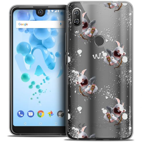 """Crystal Gel Wiko View 2 PRO (6.0"""") Case Lapins Crétins™ Cupidon Pattern"""