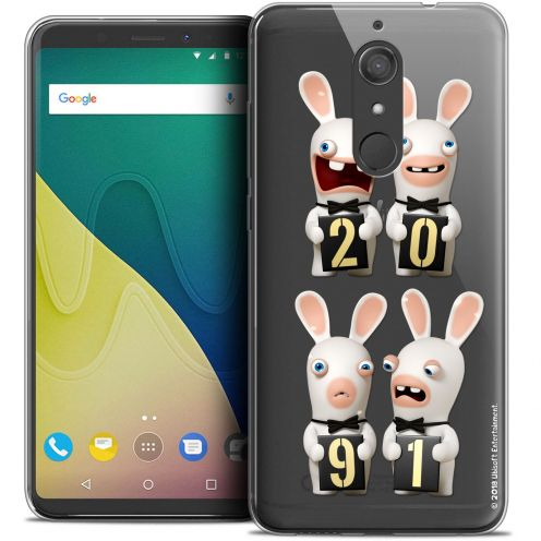 """Crystal Gel Wiko View XL (5.99"""") Case Lapins Crétins™ New Year"""