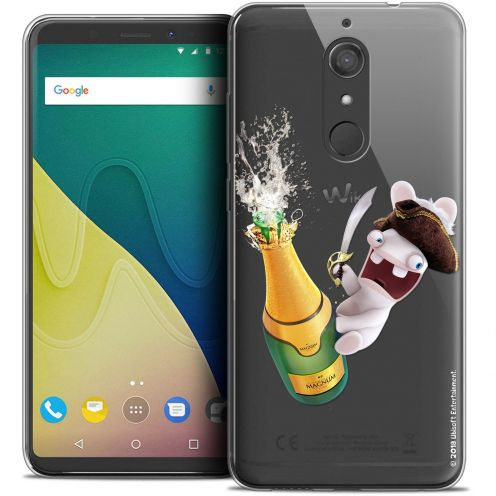 """Crystal Gel Wiko View XL (5.99"""") Case Lapins Crétins™ Champagne !"""