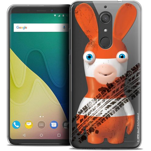 """Crystal Gel Wiko View XL (5.99"""") Case Lapins Crétins™ On the Road"""