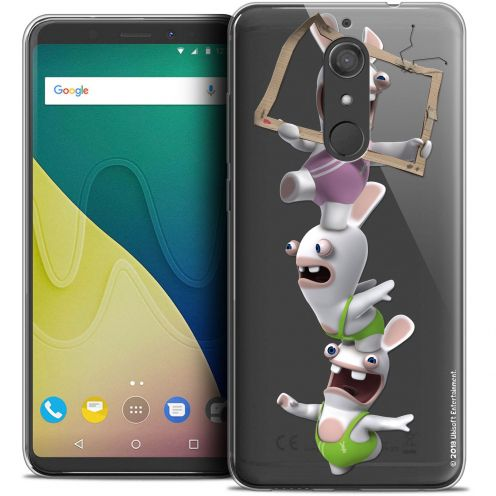"""Crystal Gel Wiko View XL (5.99"""") Case Lapins Crétins™ TV Sport"""