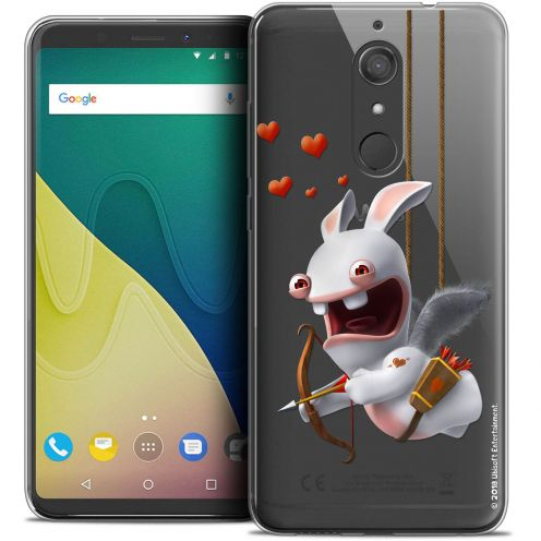 """Crystal Gel Wiko View XL (5.99"""") Case Lapins Crétins™ Flying Cupidon"""