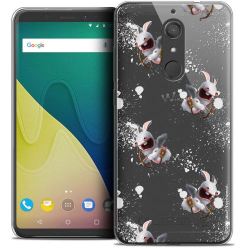 """Crystal Gel Wiko View XL (5.99"""") Case Lapins Crétins™ Cupidon Pattern"""