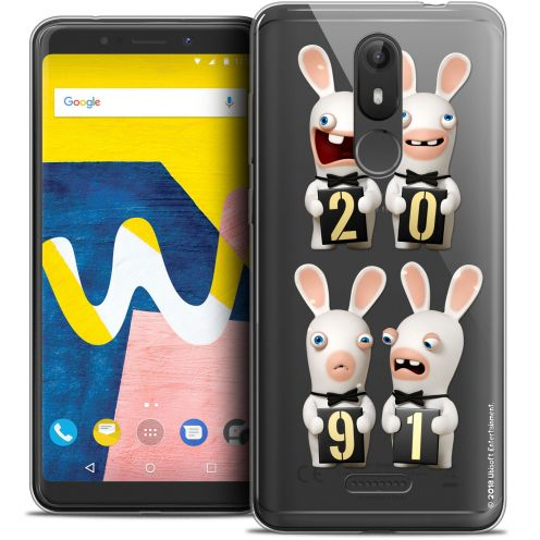 """Crystal Gel Wiko View LITE (5.45"""") Case Lapins Crétins™ New Year"""
