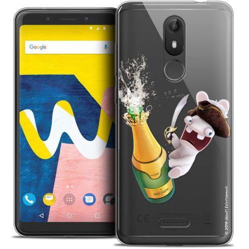 """Crystal Gel Wiko View LITE (5.45"""") Case Lapins Crétins™ Champagne !"""
