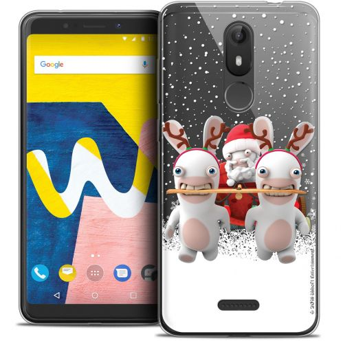 """Crystal Gel Wiko View LITE (5.45"""") Case Lapins Crétins™ Lapin Traineau"""