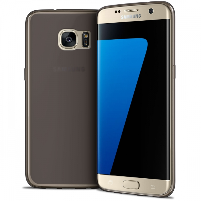 new product 4fd1a 515c2 Frozen Ice Extra Slim Smoked Black soft case for Samsung Galaxy S7 Edge
