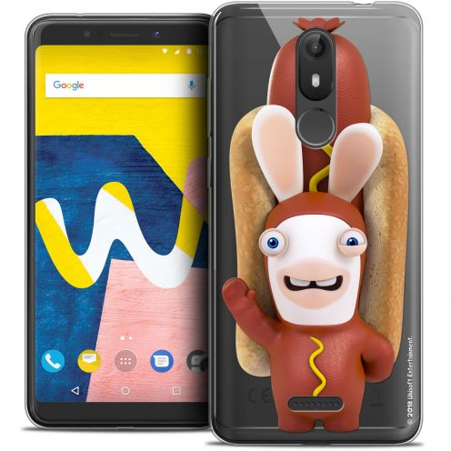 """Crystal Gel Wiko View LITE (5.45"""") Case Lapins Crétins™ Hot Dog Crétin"""