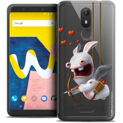 """Crystal Gel Wiko View LITE (5.45"""") Case Lapins Crétins™ Flying Cupidon"""