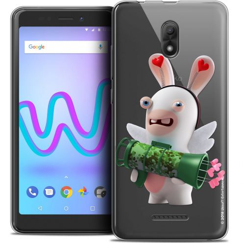 """Crystal Gel Wiko Jerry 3 (5.45"""") Case Lapins Crétins™ Cupidon Soldat"""