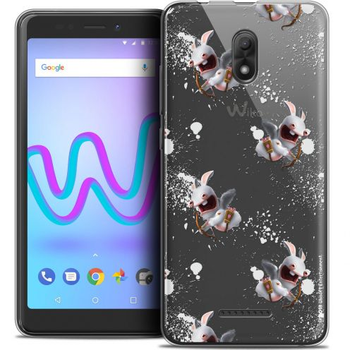 """Crystal Gel Wiko Jerry 3 (5.45"""") Case Lapins Crétins™ Cupidon Pattern"""