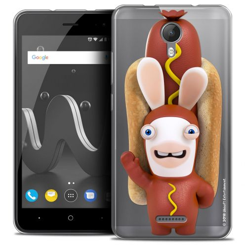 "Crystal Gel Wiko Jerry 2 (5"") Case Lapins Crétins™ Hot Dog Crétin"