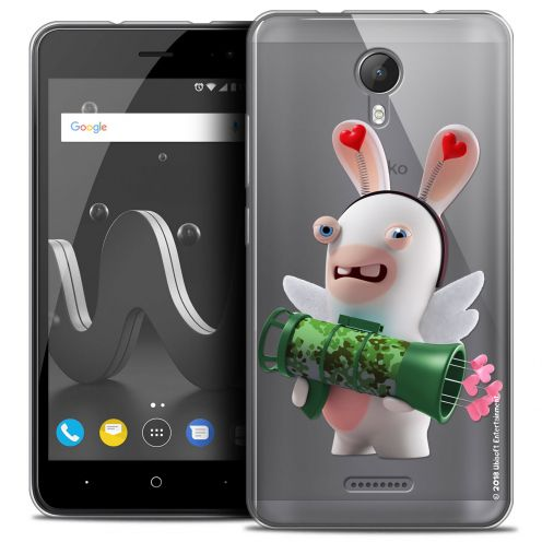 """Crystal Gel Wiko Jerry 2 (5"""") Case Lapins Crétins™ Cupidon Soldat"""