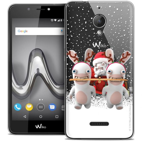 """Crystal Gel Wiko Tommy 2 PLUS (5.5"""") Case Lapins Crétins™ Lapin Traineau"""