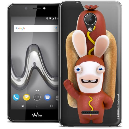 """Crystal Gel Wiko Tommy 2 PLUS (5.5"""") Case Lapins Crétins™ Hot Dog Crétin"""