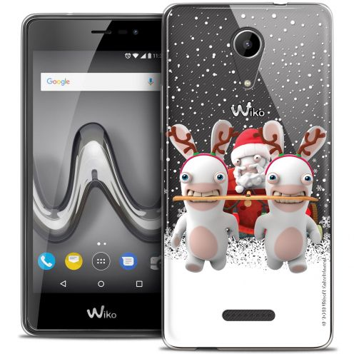 """Crystal Gel Wiko Tommy 2 (5"""") Case Lapins Crétins™ Lapin Traineau"""