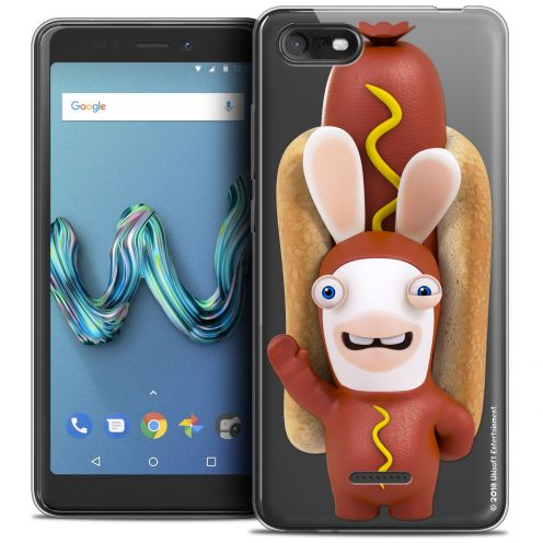 """Crystal Gel Wiko Tommy 3 (5.45"""") Case Lapins Crétins™ Hot Dog Crétin"""