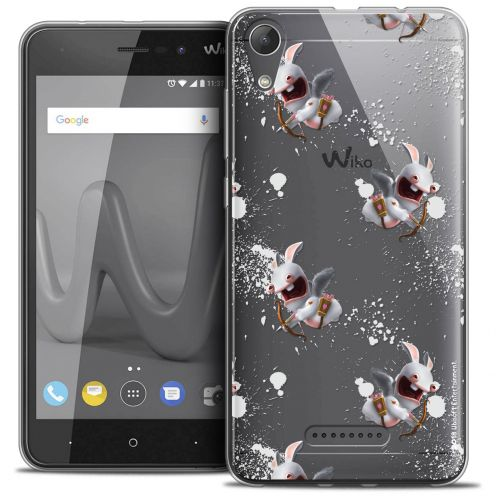 """Crystal Gel Wiko Lenny 4 (5"""") Case Lapins Crétins™ Cupidon Pattern"""