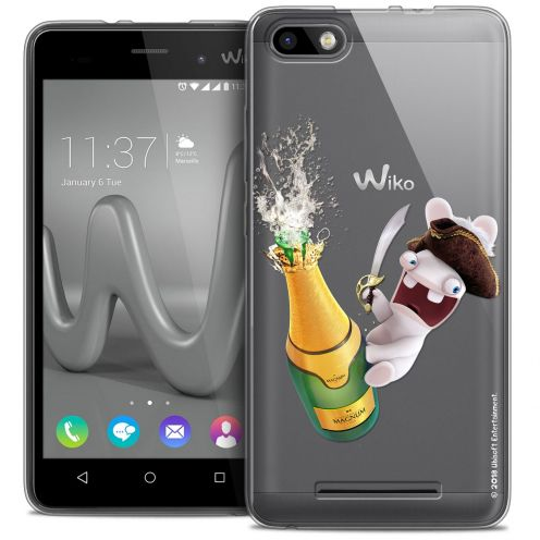 Crystal Gel Wiko Lenny 3 Case Lapins Crétins™ Champagne !