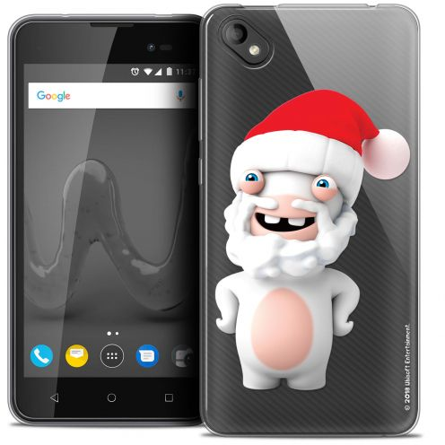 """Crystal Gel Wiko Sunny 2 PLUS (5"""") Case Lapins Crétins™ Lapin Noël"""