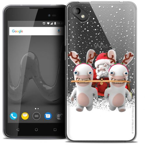"""Crystal Gel Wiko Sunny 2 PLUS (5"""") Case Lapins Crétins™ Lapin Traineau"""