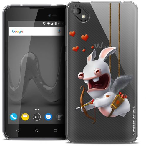 """Crystal Gel Wiko Sunny 2 PLUS (5"""") Case Lapins Crétins™ Flying Cupidon"""
