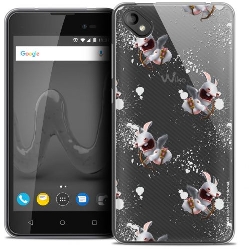 """Crystal Gel Wiko Sunny 2 PLUS (5"""") Case Lapins Crétins™ Cupidon Pattern"""