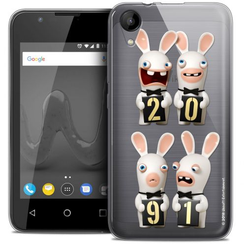 """Crystal Gel Wiko Sunny 2 (4"""") Case Lapins Crétins™ New Year"""