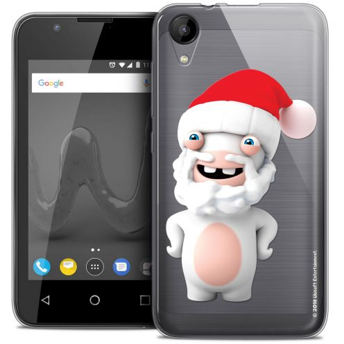 """Crystal Gel Wiko Sunny 2 (4"""") Case Lapins Crétins™ Lapin Noël"""