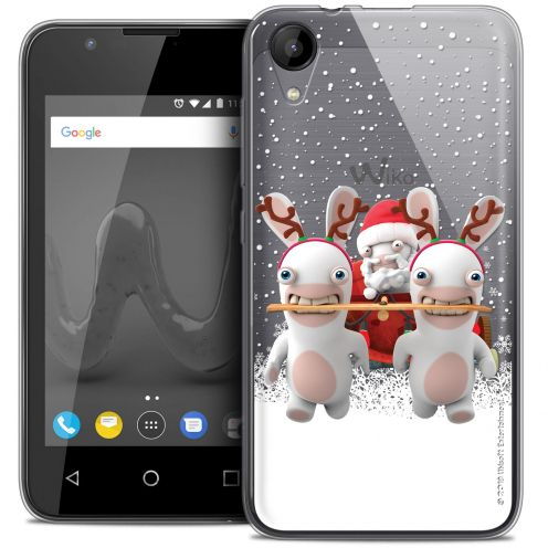 """Crystal Gel Wiko Sunny 2 (4"""") Case Lapins Crétins™ Lapin Traineau"""
