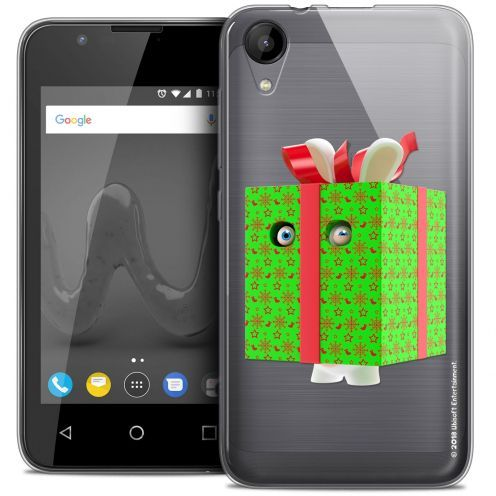 """Crystal Gel Wiko Sunny 2 (4"""") Case Lapins Crétins™ Lapin Surprise Vert"""