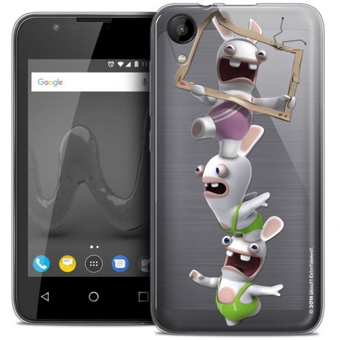 """Crystal Gel Wiko Sunny 2 (4"""") Case Lapins Crétins™ TV Sport"""
