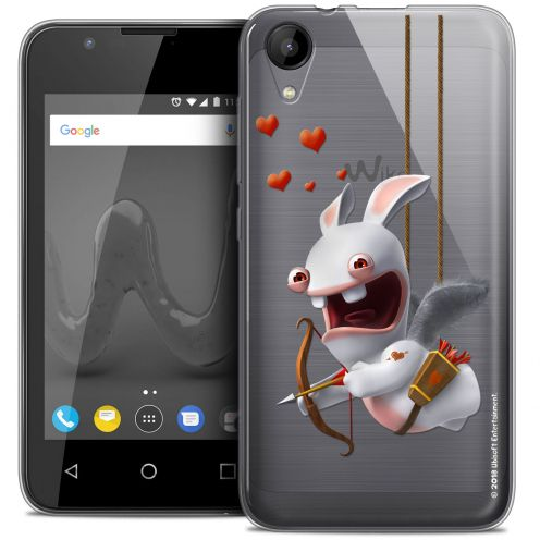 """Crystal Gel Wiko Sunny 2 (4"""") Case Lapins Crétins™ Flying Cupidon"""