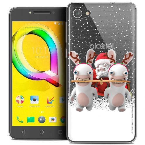 "Crystal Gel Alcatel A5 LED (5.2"") Case Lapins Crétins™ Lapin Traineau"