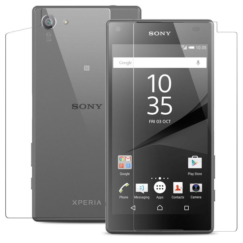 Glass Pro+ Ultra HD 9H 0.33mm Front+Back Tempered Glass Screen Protector for Sony Xperia Z5 Compact