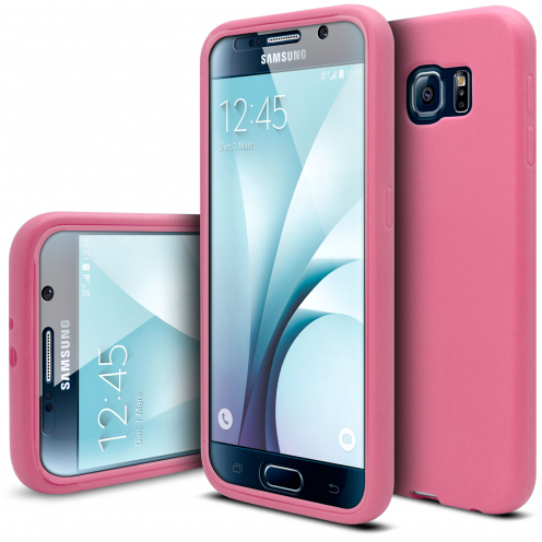 Shockproof case for Samsung Galaxy S6 Ultimate 360 Touch Pink