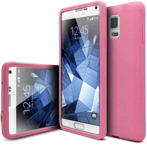 Shockproof case for Samsung Galaxy Note 4 Ultimate 360 Touch Pink
