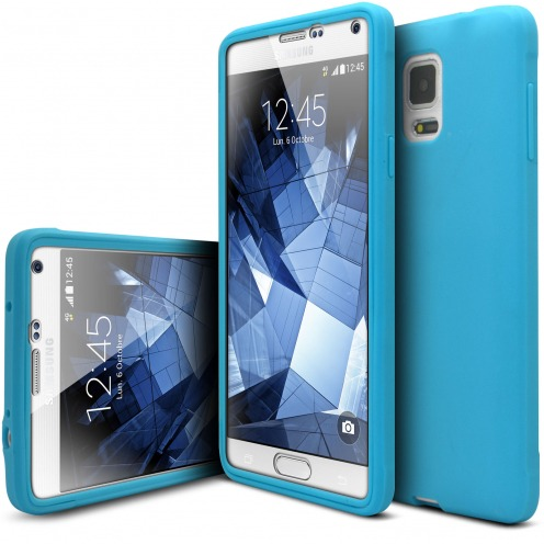 Shockproof case for Samsung Galaxy Note 4 Ultimate 360 Touch Blue